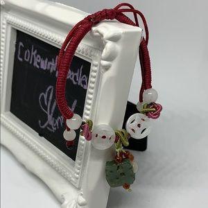"Lucky ""FU"" & symbol jade bracelet"